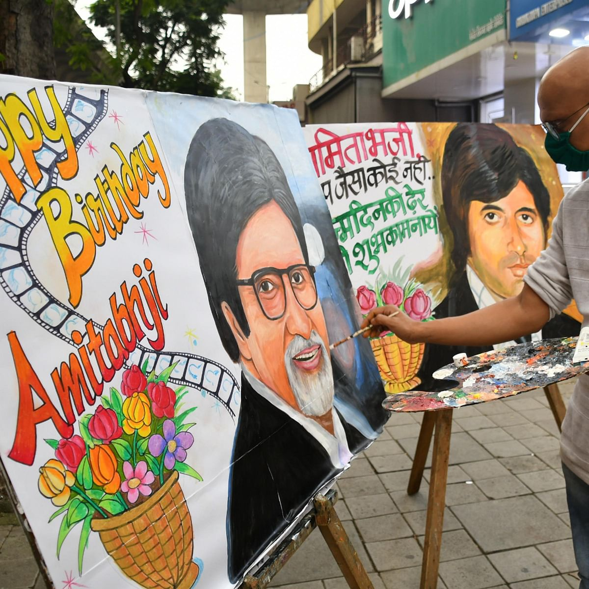 Amitabh Bachchan turns 78: Mumbai's Lalbaug Gurukul makes paintings to wish megastar on birthday; see pics