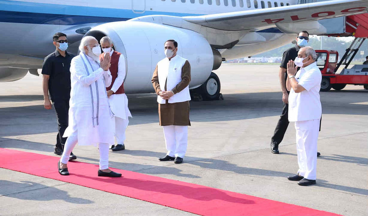 PM Modi arrives in Gujarat for 2-day trip; to launch various projects, visit Statue of Unity