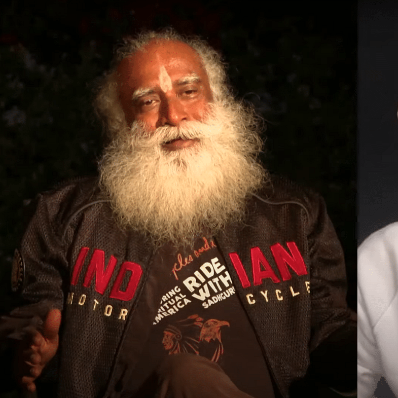 Sadhguru interacts with Black Eyed Peas rapper Taboo on Native American culture