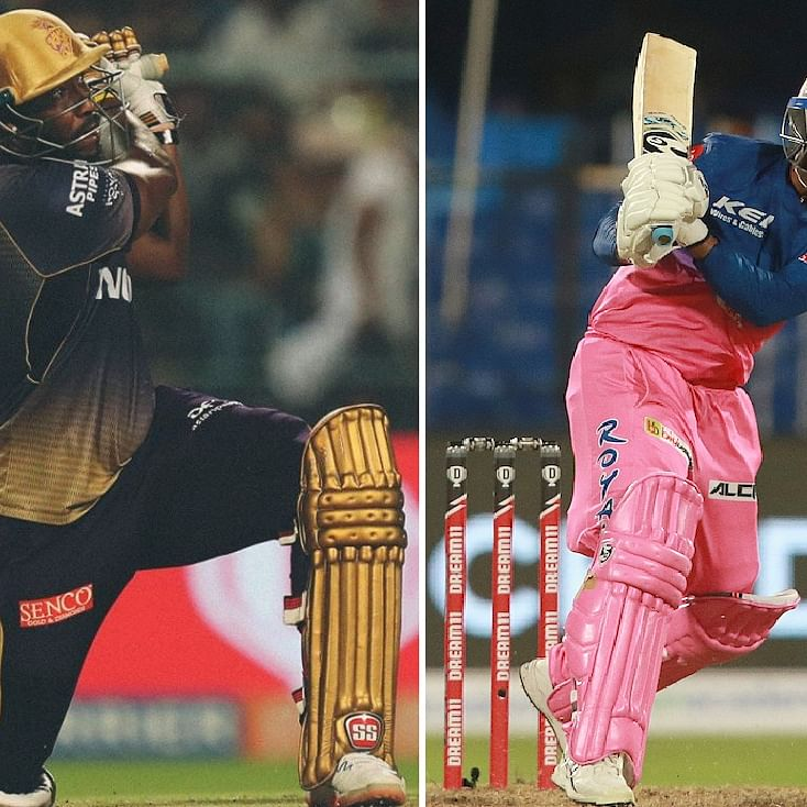 Tewatia vs Russell: Who hit the better sixes?