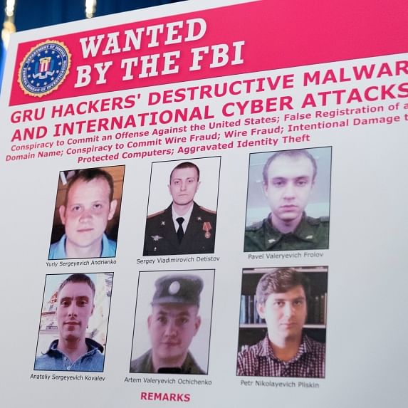 US charges 6 Russian military officers in vast hacking campaign