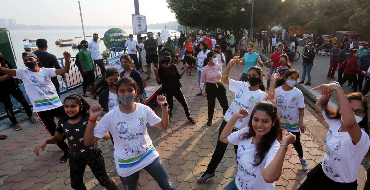 Bhopal: Kids, adults embrace Streets for People challenge with zest