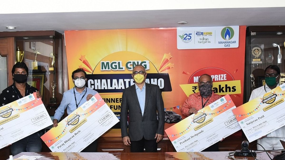 Mahanagar Gas Limited felicitates lucky winners of 'Mahanagar Gas CNG Chalate Raho' scheme with Rs 5 lakh