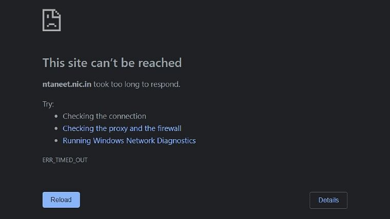 NEET-UG 2020: Students share screenshots as ntaneet.nic.in crashes