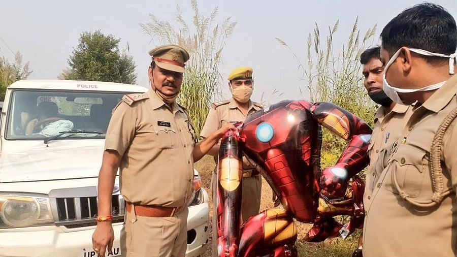 Uttar Pradesh: Mistaken for an alien, Iron Man balloon creates panic in Greater Noida
