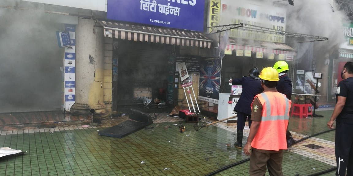 6 shops gutted after fire breaks out in Thane's shopping centre, none hurt