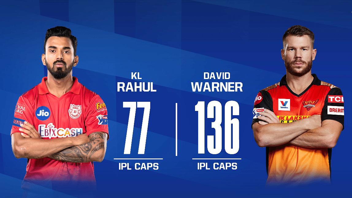 KL Rahul (L) and David Warner (R)