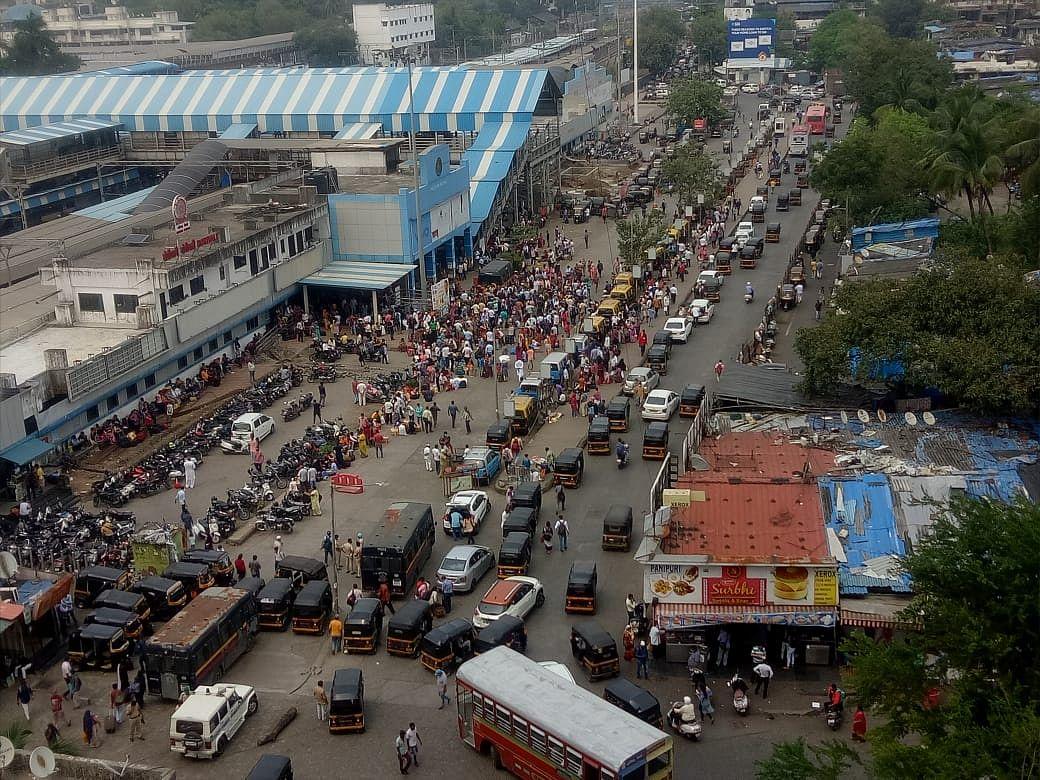 Visuals from Borivali local station.