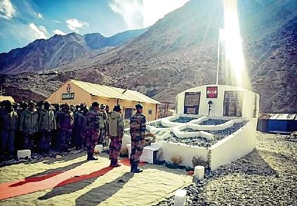 Army builds memorial in Ladakh for soldiers martyred in Galwan clash