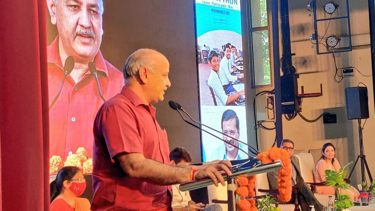 Deputy Chief Minister and Education Minister of Delhi, Manish Sisodia launching the CODE-A-THON campaign