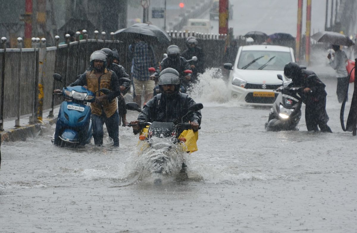 Flooded road in Sion (file pic).