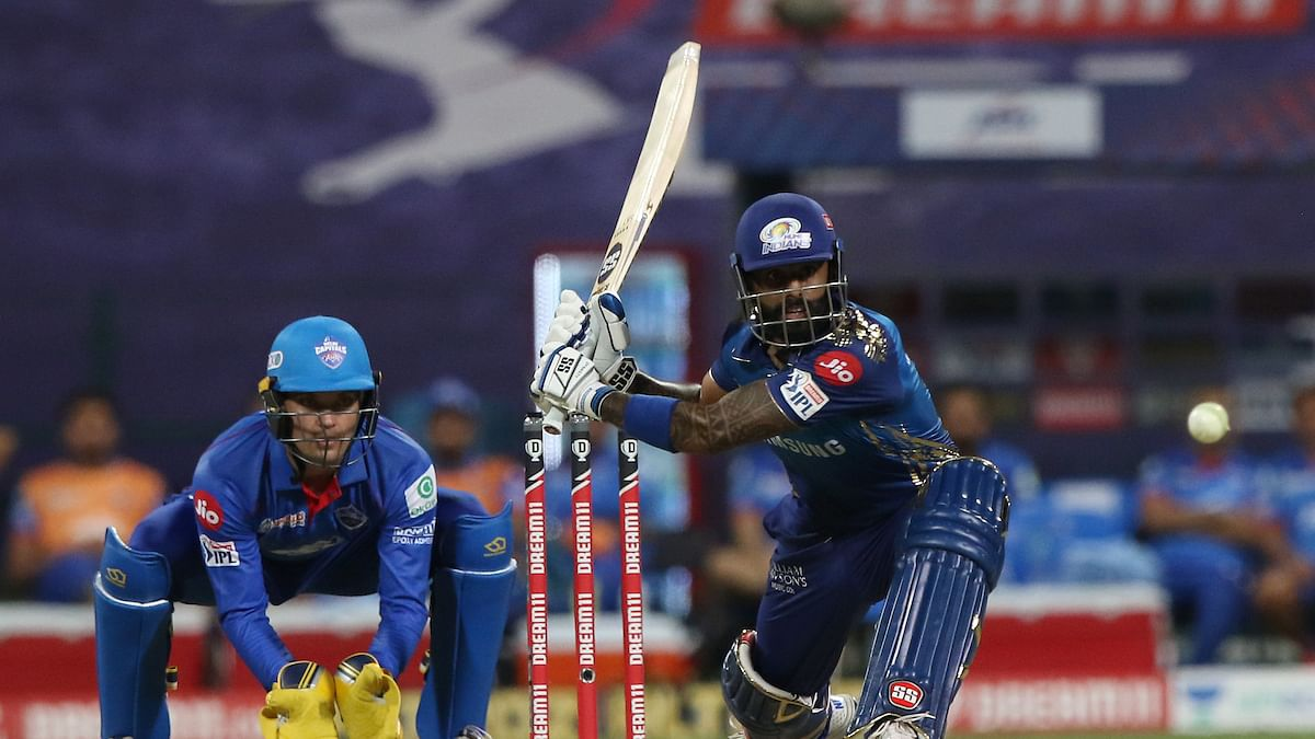 Suryakumar Yadav of Mumbai Indians takes a shot