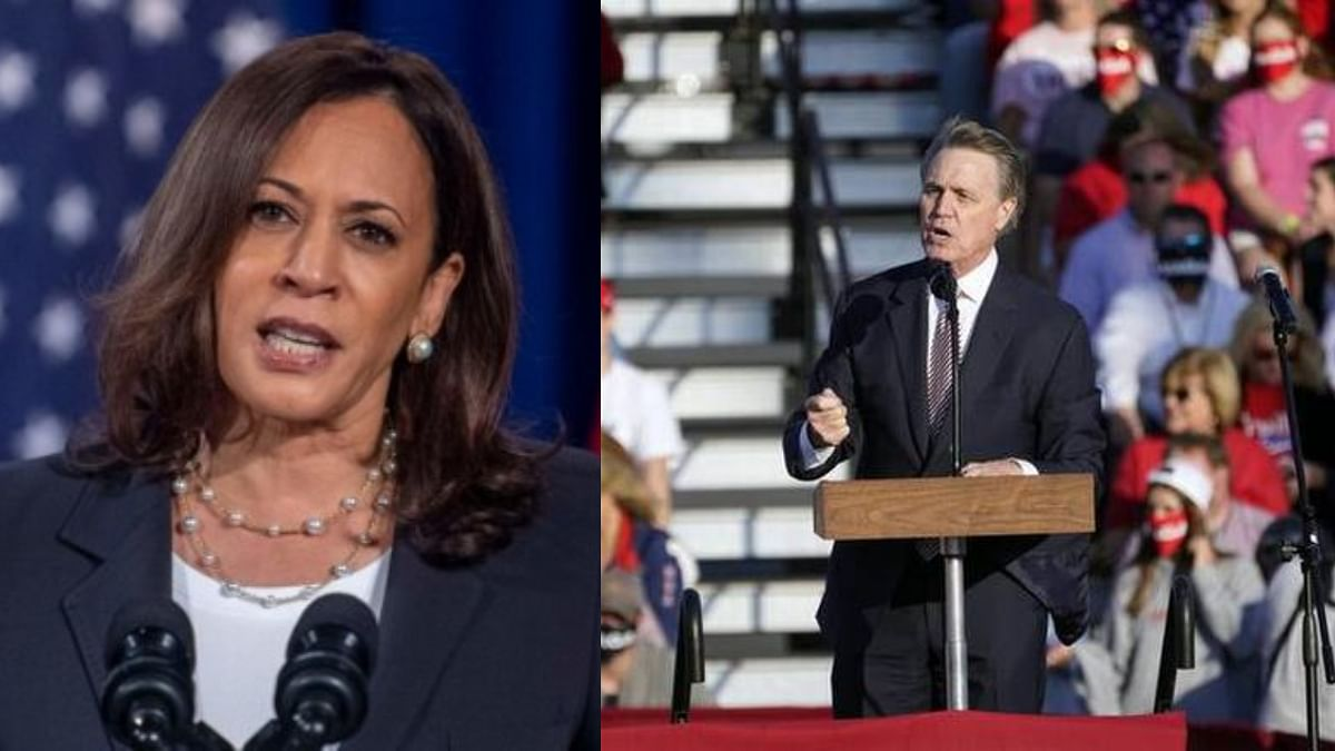 "Perdue is seen in the video repeatedly making exaggerated attempts to pronounce Harris' name before saying, ""I don`t know, whatever."""