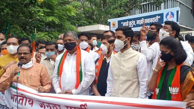BJP protests across Maharashtra over atrocities on women