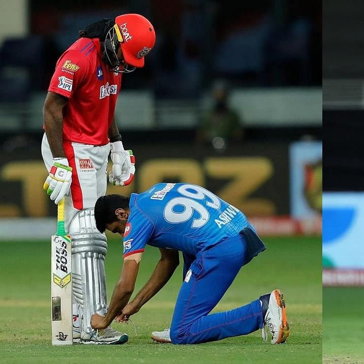 R Ashwin's epic caption on a picture of him tying Chris Gayle's shoelaces wins the internet