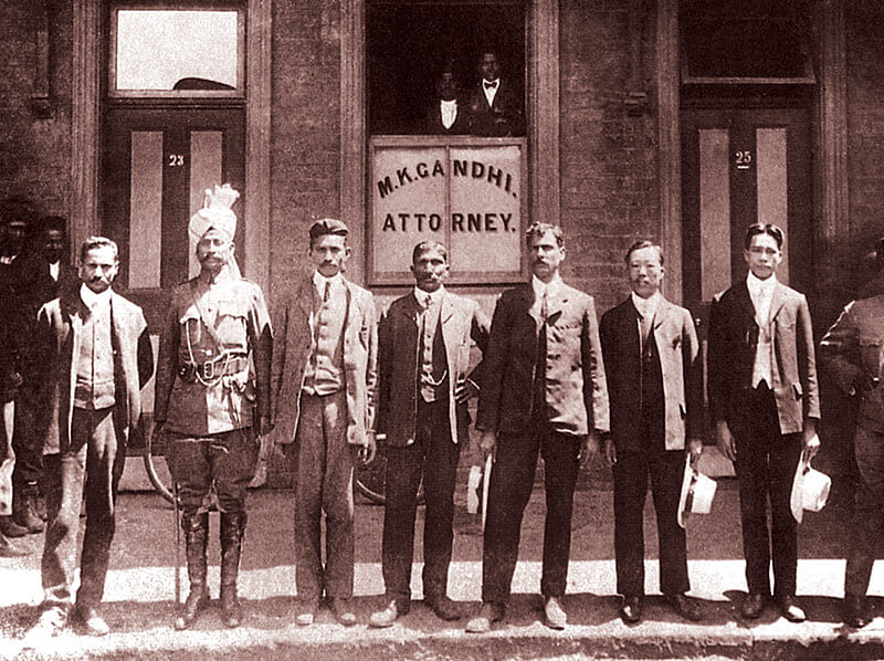 Gandhi with his associates in South Africa