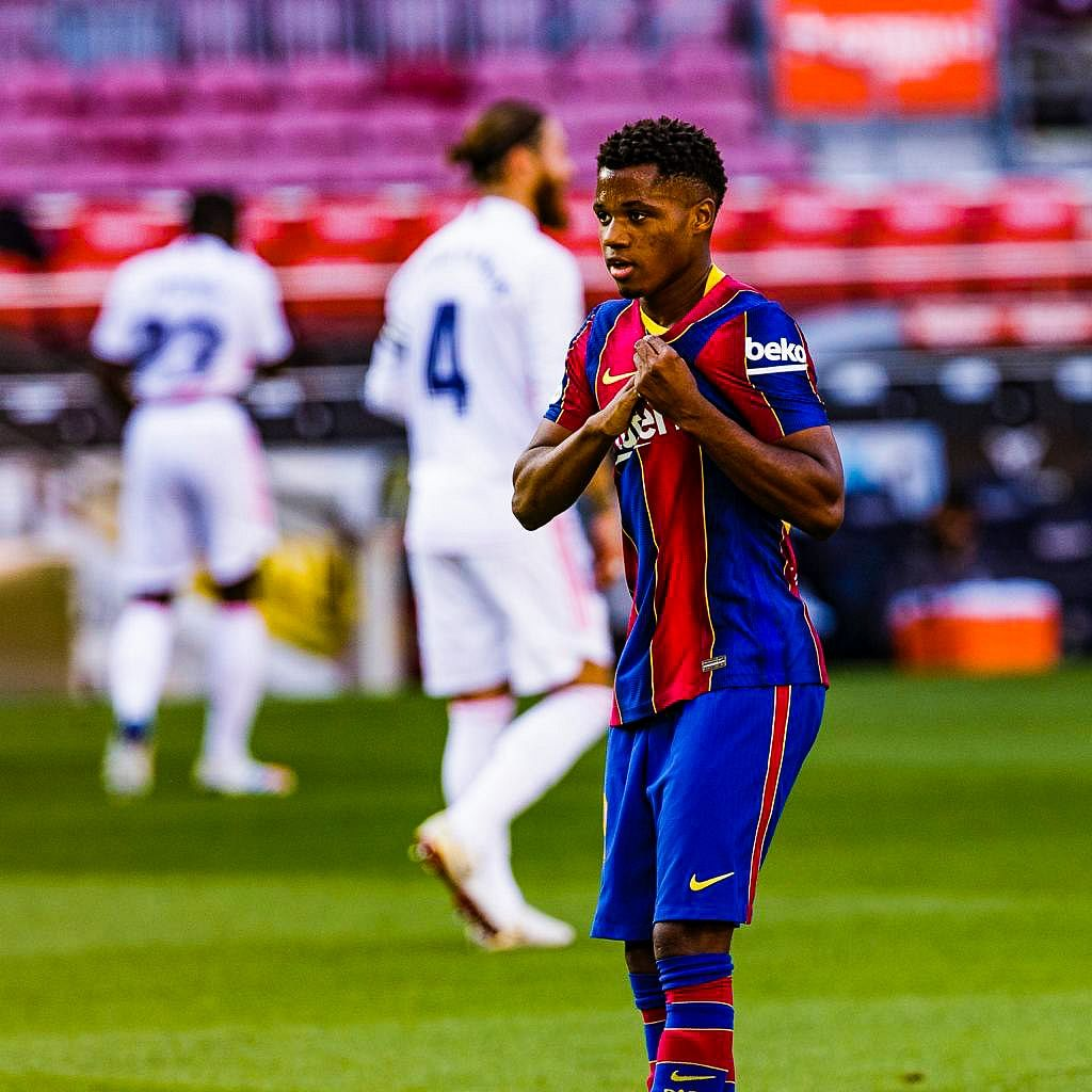 Ansu Fati becomes youngest El Clasico goalscorer in 21st century