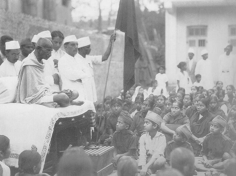 Gandhi during non-cooperation movement