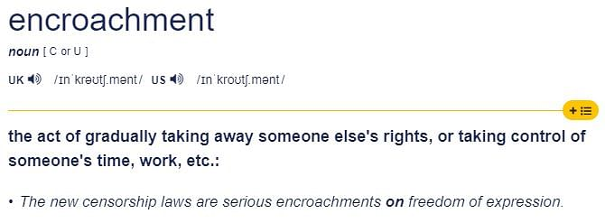 Meaning of encroachment