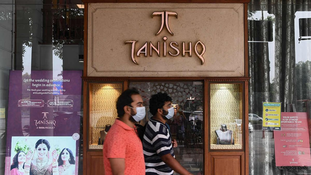 A Tanishq jewellery showroom in a shopping arcade in New Delhi on October 14, 2020.