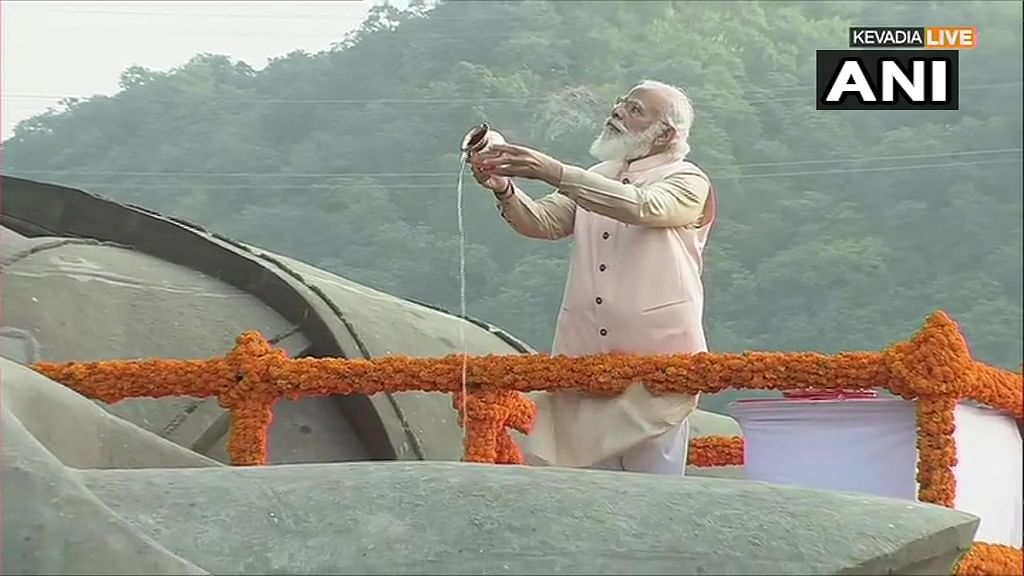 PM Modi visits Statue of Unity to pay tributes to Sardar Patel on birth anniversary