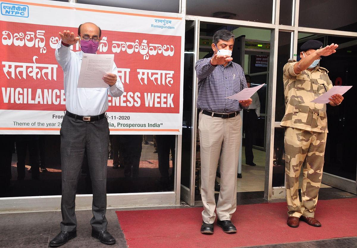 Vigilance Awareness Week-2020 commences at NTPC-Ramagundam with the pledge for Vigilant India, Prosperous India