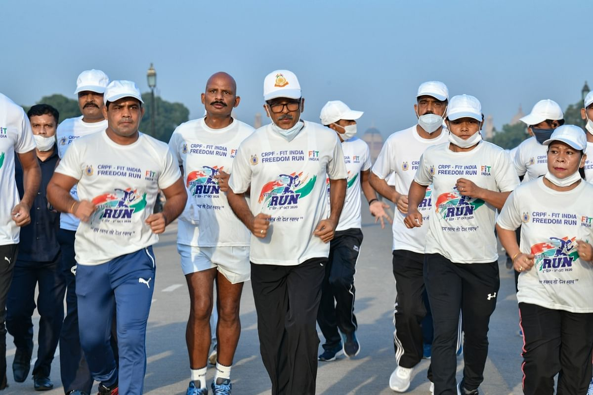 Central Reserve Police Force crosses 1.5 crore kilometers mark in Fit India and Khelo India movements