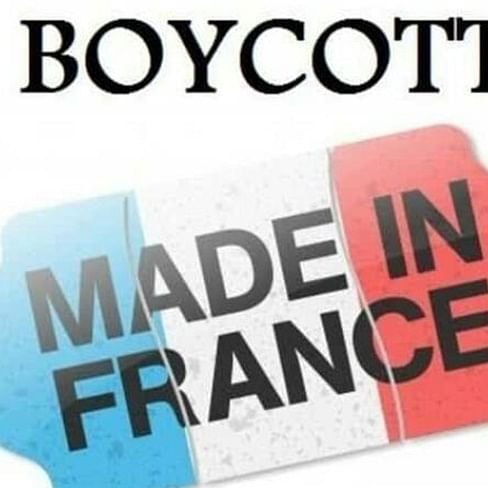 'France should be blacklisted': #Boycottfranceproducts trends after Charlie Hebdo cartoon displayed on French govt building