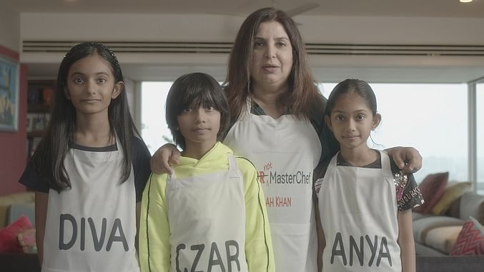 Farah Khan puts on chef's hat, while her kids turn judges