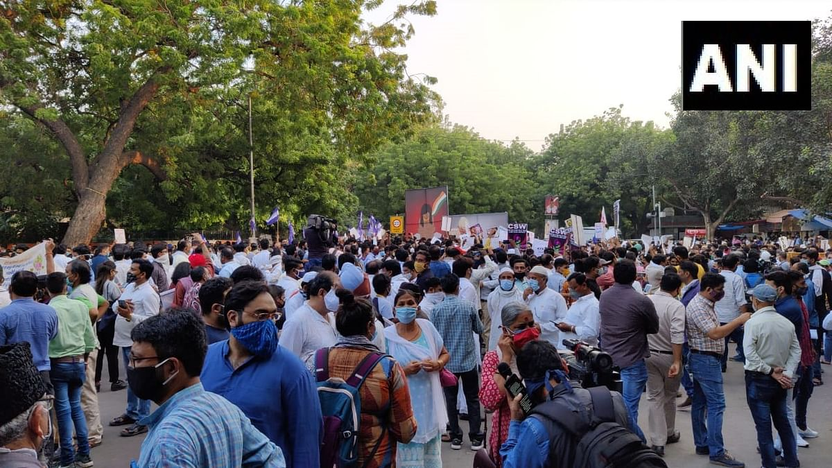 Civil society activists, students, women and members of various political outfits gathered at the Jantar Mantar here on Friday to demand justice for the Hathras gangrape and murder victim.