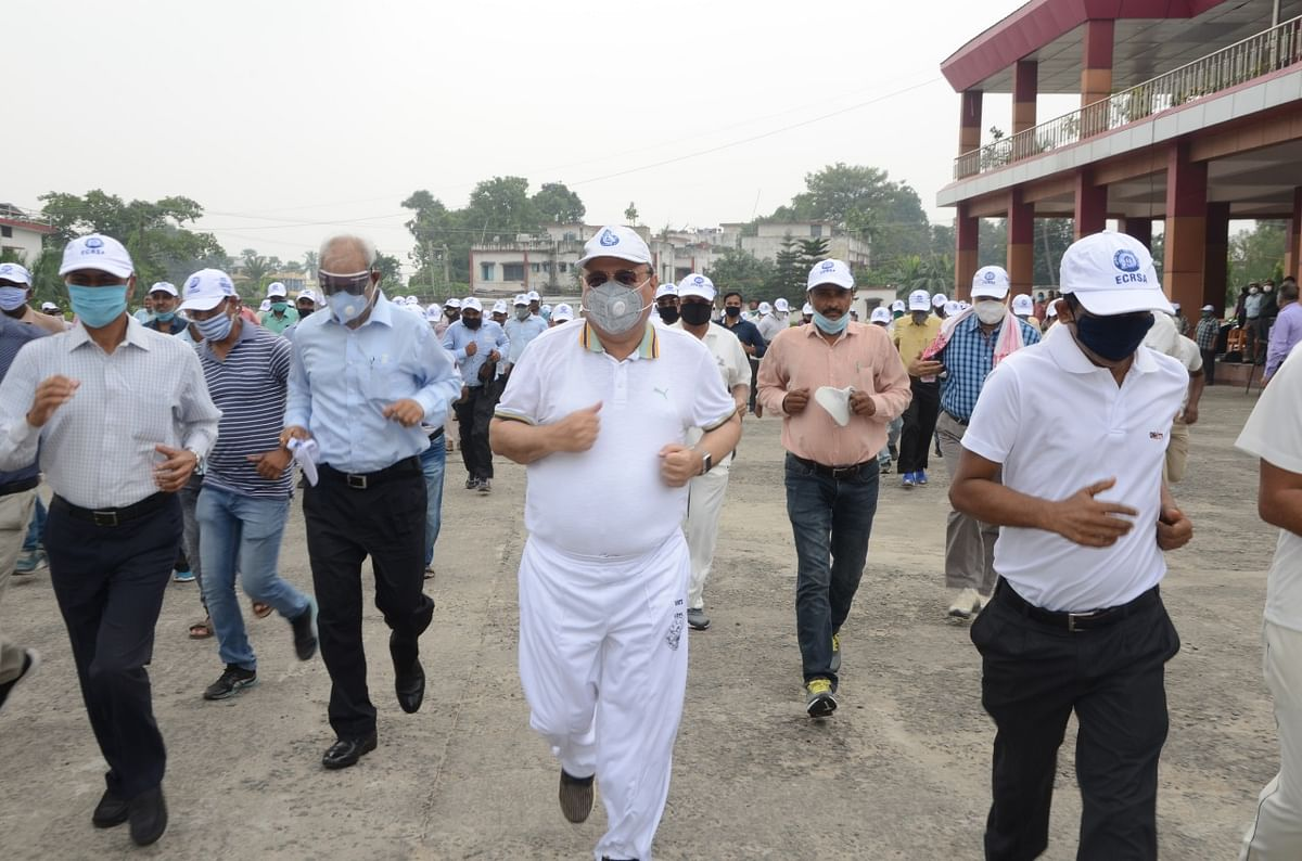 East Central Railway HQ Hajipur organises Fit India Freedom run