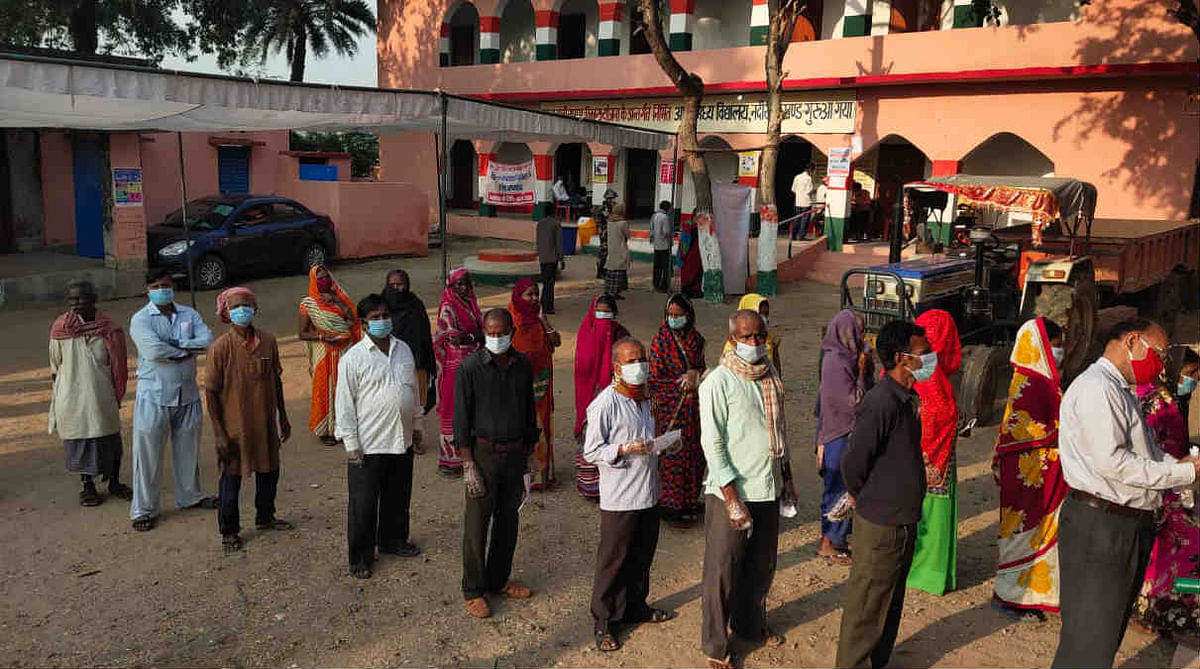 Bihar Polls 2020 LIVE: 18.48% voter turnout recorded till 11am