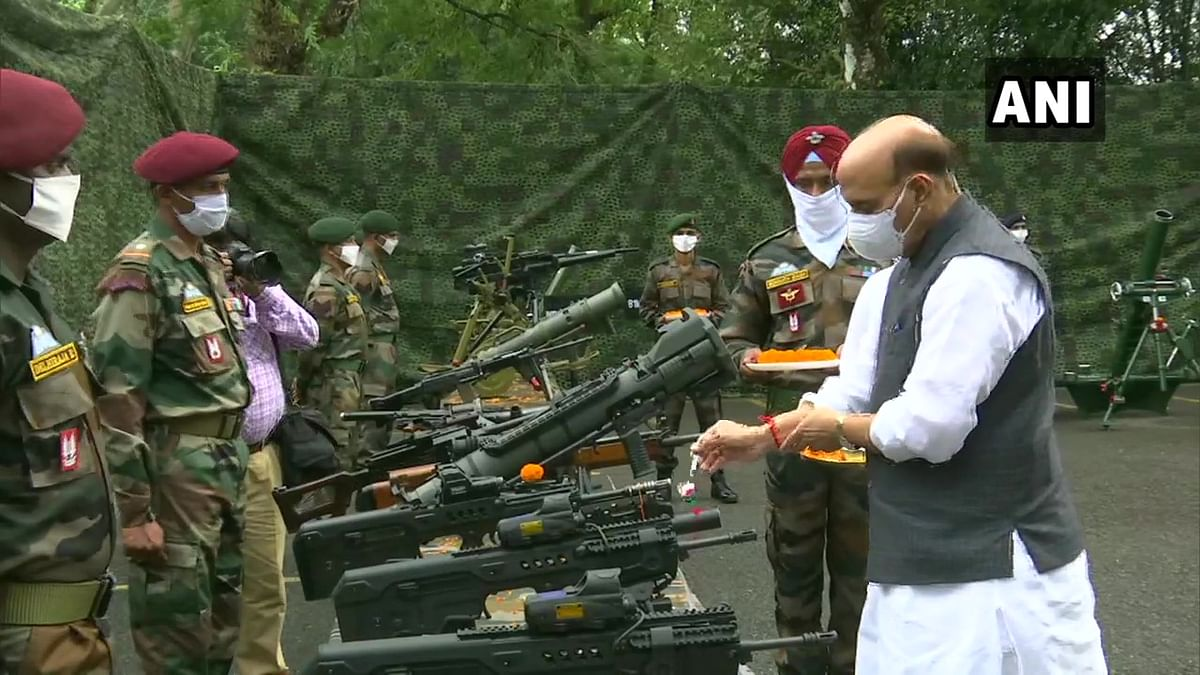 Dussehra 2020: Rajnath Singh performs 'Shastra Puja', says Army won't let anyone take an inch of country's land