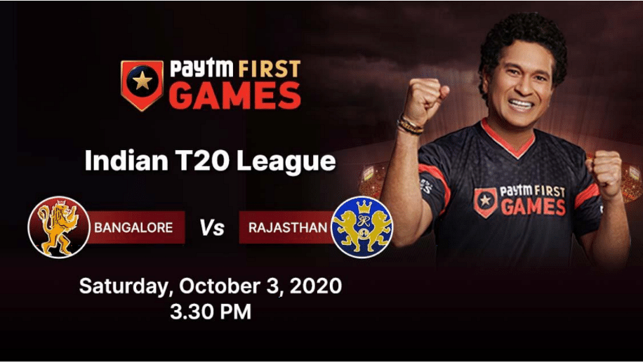 Bangalore vs Rajasthan: Paytm First Games Fantasy Prediction: Indian T20 League