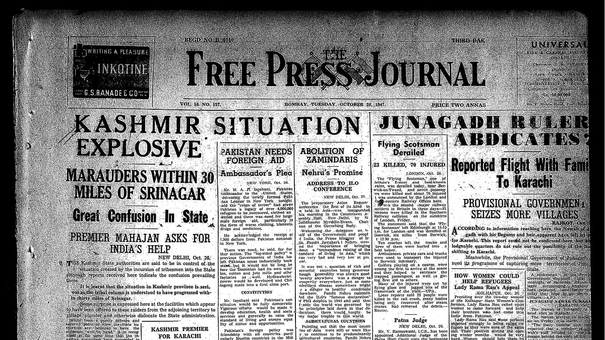 FPJ Archives: When Maharaja Hari Singh signed the Instrument of Accession and J&K became part of India