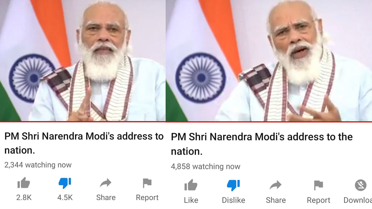 The Prime Minister's 6 PM address on the BJP's official channel on YouTube