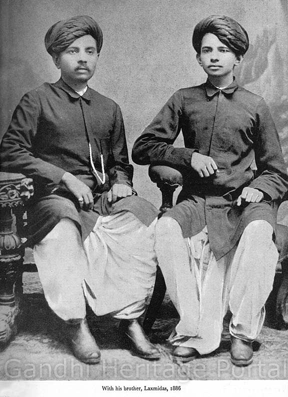 With his brother Laxmidas in 1886