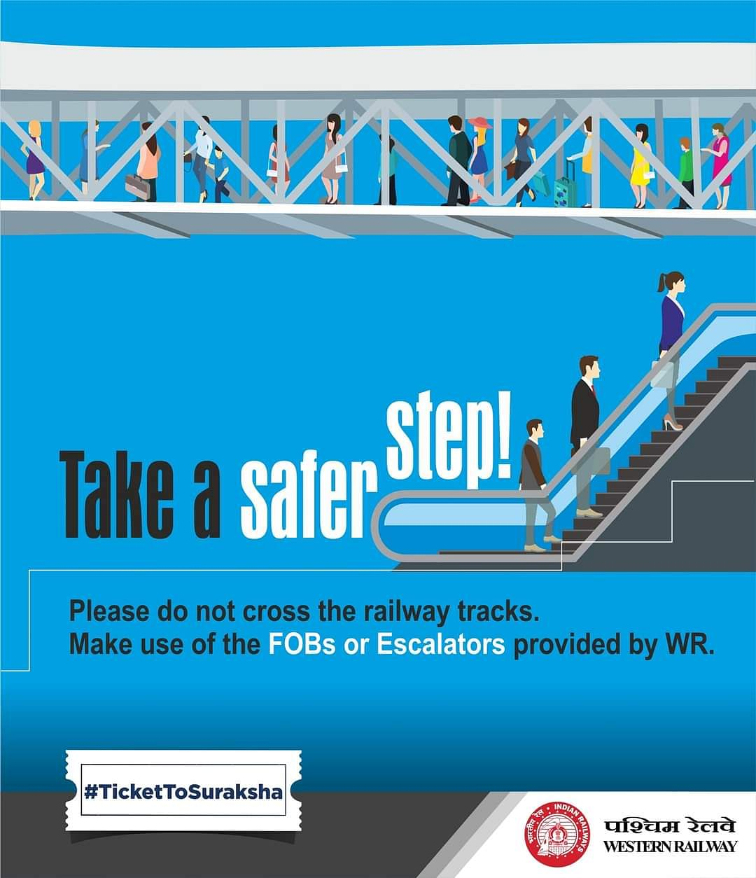 Western Railway's various trespassing control measures yields positive results
