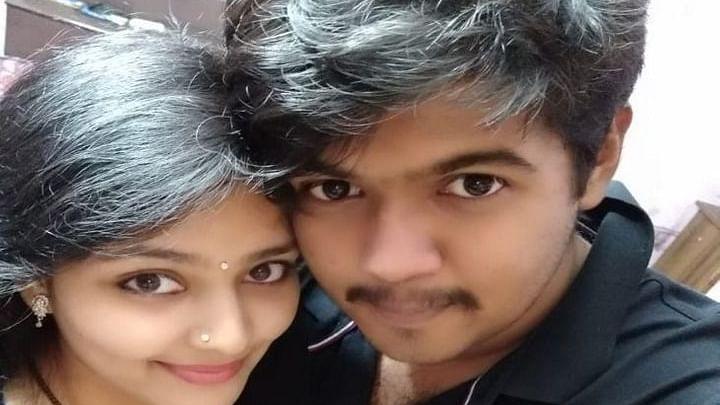 Anshu with husband Harsh