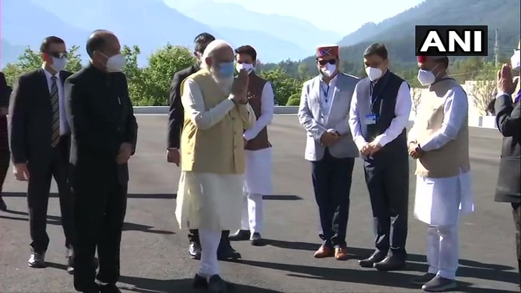 PM Modi inaugurates Atal Tunnel; to address a gathering in Himachal Pradesh's Sissu