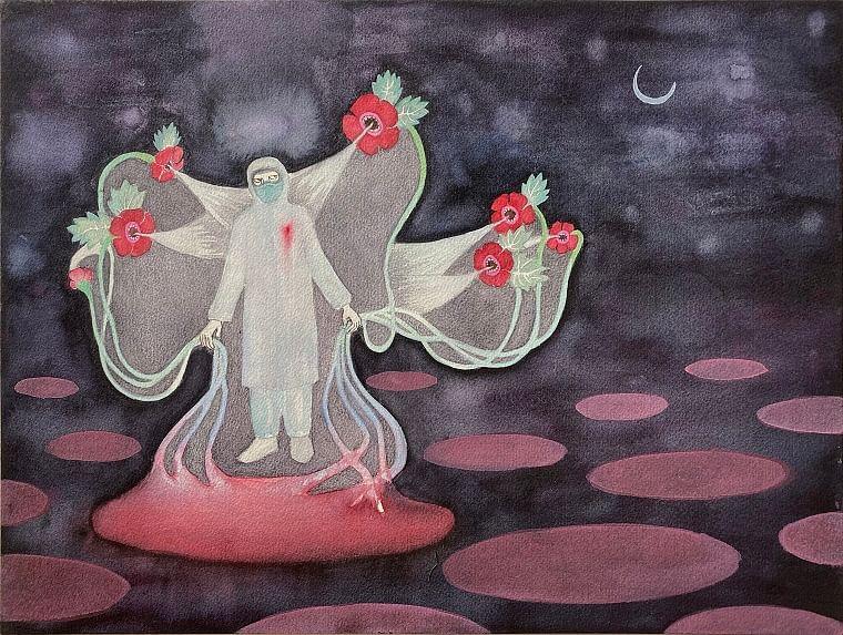 Dhruvi Acharya's pandemic-inspired artwork
