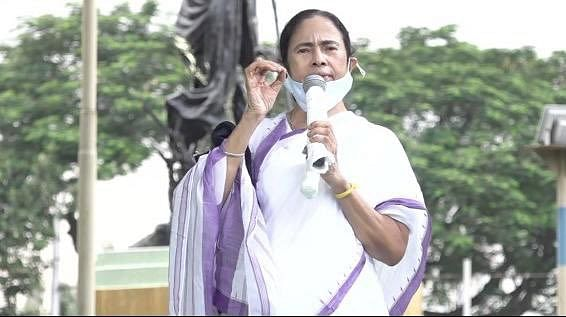 Day after TMC MPs roughed up in UP's Hathras, Mamata Banerjee leads protests in Kolkata