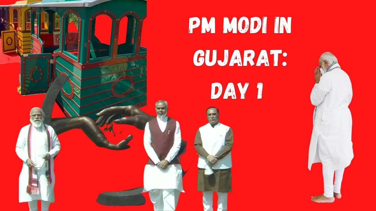Modi on a train? Highlights of PM's Gujarat visit