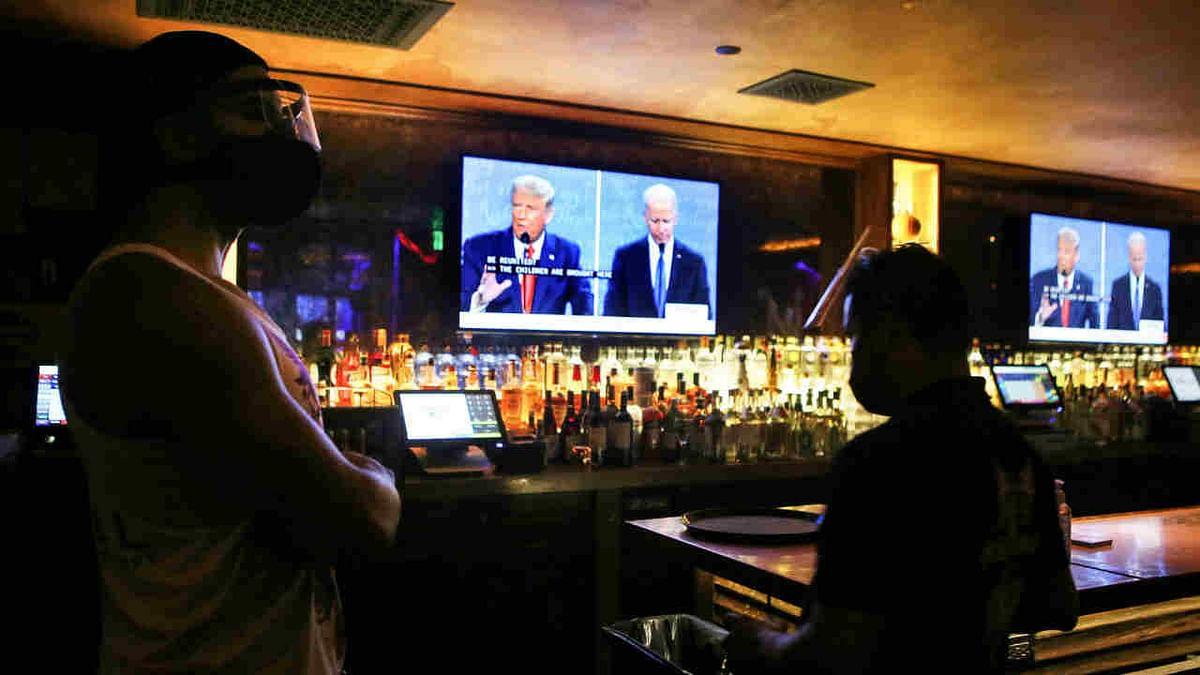 Trump and Biden at presidential debate on Thursday