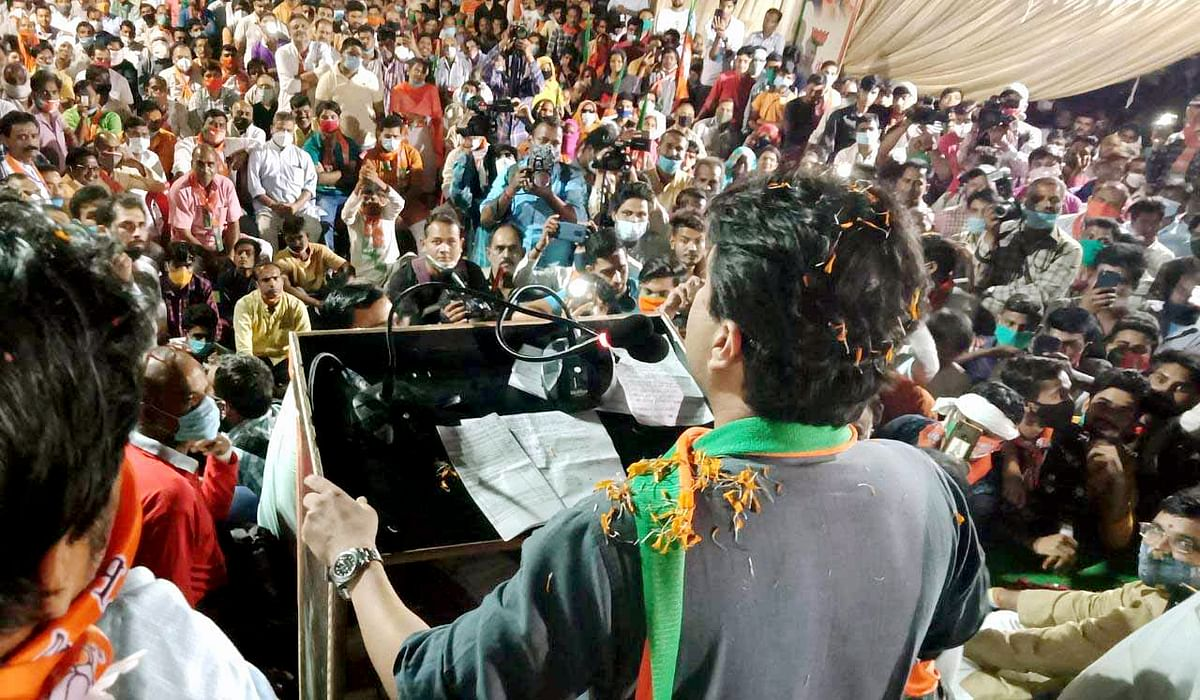 'Maharaj listen to PM Modi': Twitter furious as social distancing goes for a toss at Jyotiraditya Scindia's rally