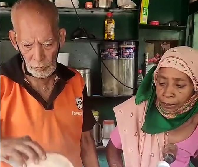 Moving story of food vendor couple goes viral; foodies gather for help