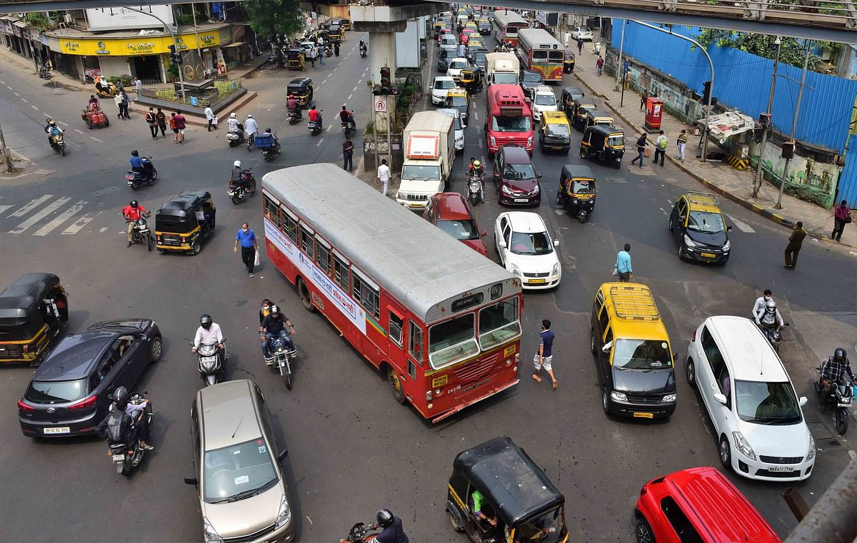 Thane: Ongoing road construction work affects traffic on Ghodbunder Road