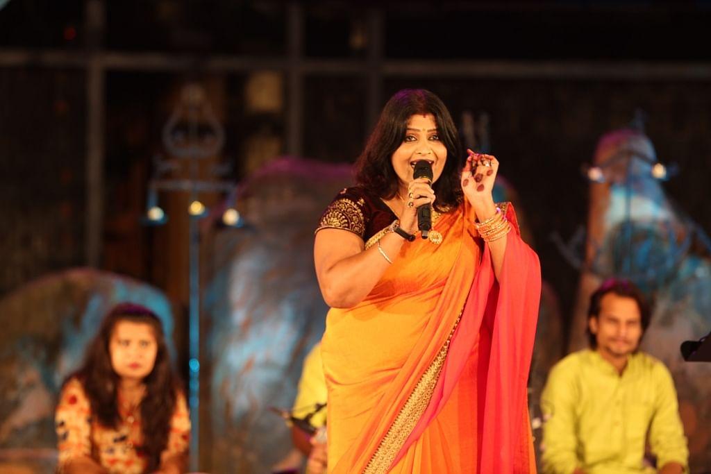 Folk singer Sanjo Baghel