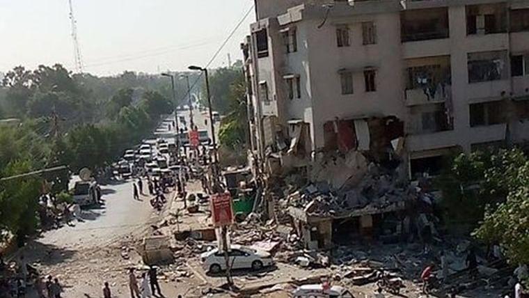 Watch: Blast opposite Karachi University, at least 3 dead