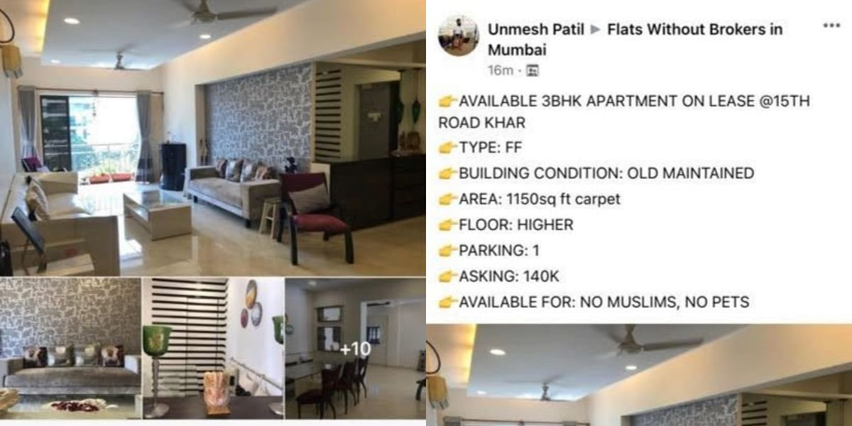 'Muslims and pets not allowed': To let ad for Mumbai flat irks netizens; Facebook user slammed for 'apartheid' post